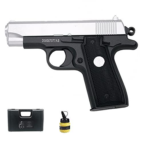 Pistola Galaxy G2 Metal Bicolor (Muelle) | Pistola de Airsoft (Bolas de plástico 6mm) + maletín de PVC + biberón de munición