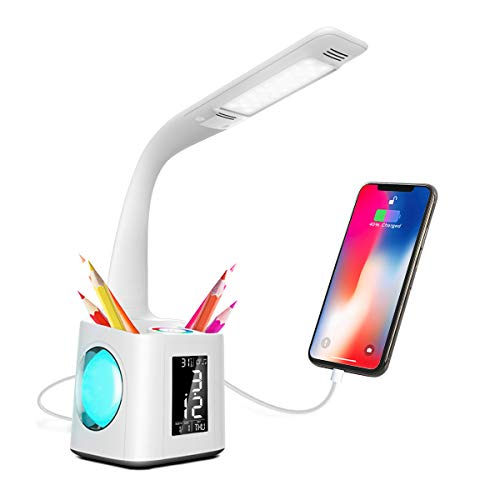OMaggie Study LED Desk Lamp with USB Charging Port, Night...