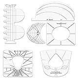 Ymxcwer85851 Regla de acrílico en Forma de Costura Regla de Patchwork procesamiento de Bricolaje Multifuncional
