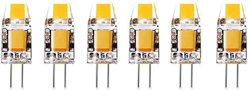 EMGQ Bombilla de ahorro de energía 2W G4 LED Bombilla G4 Base de dos pines, corriente de corriente constante equivalente a la bombilla halógena de 20W G4, DC12V 6000-6500K Bombilla blanca en frío para