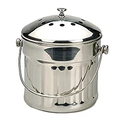 Endurance Stainless Steel Jumbo Compost Pail 1.5 Gallon