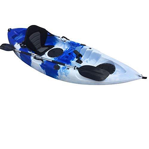Cambridge Kayaks ES, Zander Azul Y Blanco Solo Kayak DE Pesca Y Paseo, RIGIDO,