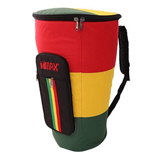 """Portátil 10/12 """"Bolsa de mano africana Djembe llevar bolsa de almacenamiento - 12"""", como se describe 12"""""""
