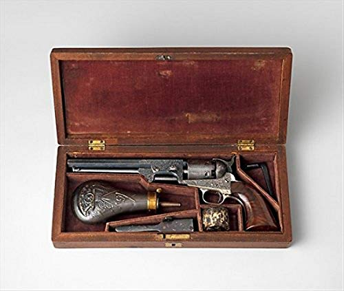 The Poster Corp Colt Model 1851 Navy Percussion Revolver Serial Number 29705 with Case and Accessories Kunstdruck (45,72 x 60,96 cm)