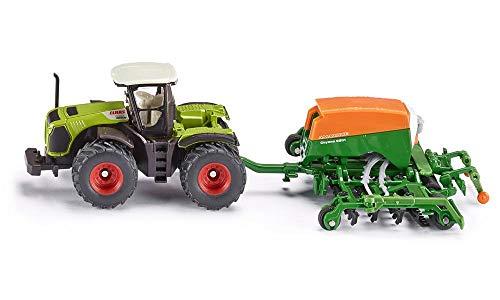 SIKU Farmer Trattore Claas Xerion con seminatrice Amazone Cayenna 6001, Color Verde (Sieper GmbH 1826)