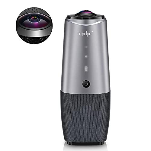 会議用webカメラ ウェブカメラ Coolpo AI Huddle HD1080P 360°広角 カメラ・マイク・スピーカー付き 画面設定・調節・カスタマイズ.・ブロック 自動フォーカス 半径4.6m範囲内集音 USB3.0ケーブル Windows 7/8/10 IOS最新システム Zoom Skype Teams 日本語取扱説明書(日本語サポート・正規版); セール価格: ¥73,609