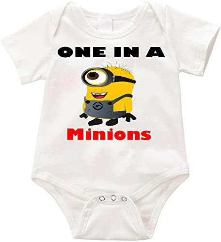 Anicelook One in a Minions 1 infant romper onesie creeper 18 24months White product image