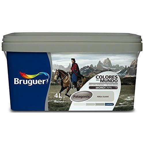 Bruguer 177164 Pintura paredes y techos, Patagonia Perla Suave, 4 litros