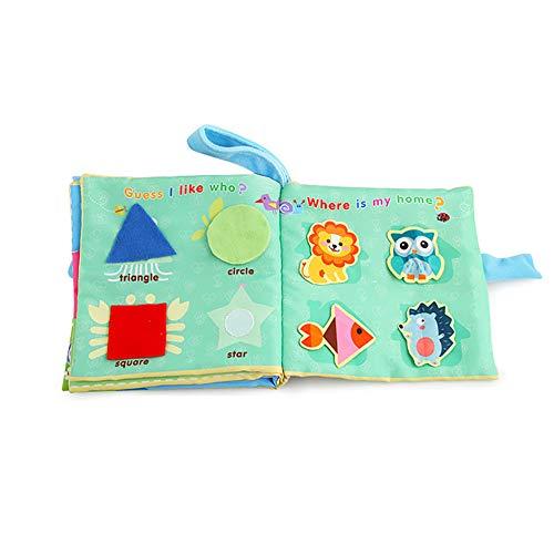 Libros de tela ambiental sobre el inglés diario para la educación temprana del bebé 1PC