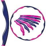 BESTIF Hula Hoop Reifen Fitness für Erwachsene Bauchtrainer Trainingsgerät Durchmesser 90cm (Rosa-Lila, 90 cm)