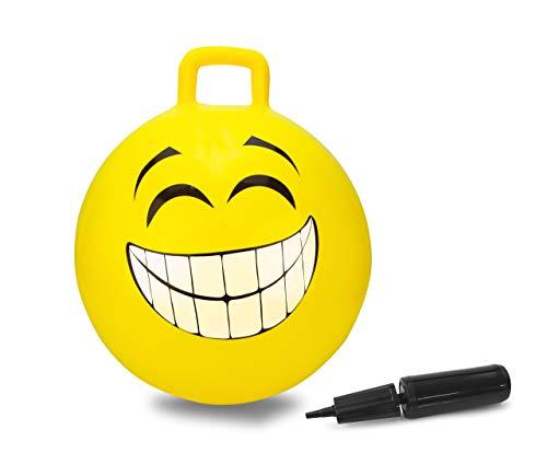 Jamara- Smile Pallone Salto, Colore Giallo, 460457