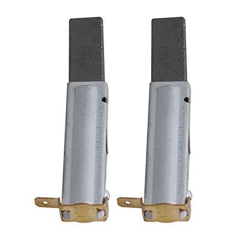 RDEXP 3x0.83x0.39inch Repuesto Aspirador Instrumentos Soporte de cepillo de motor de carbón para 6.6 / 13.2 / 15.4 / 17.6 / 19.8 Galones Aspiradora industrial Juego de 2