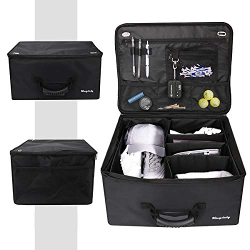Lovinouse Premium Golf Trunk Organizer, Waterproof Travel Car Golf Locker to Store Golf Accessories, Adjustable Compartments