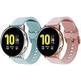 kitway Correas compatibles con Galaxy Watch Active/Active2/Galaxy Watch 42 mm/Gear S2 Classic, correas de repuesto para Galaxy Watch 3 41 mm/Galaxy Watch Active (40 mm)/Active2 40 mm 44 mm Smart Watch