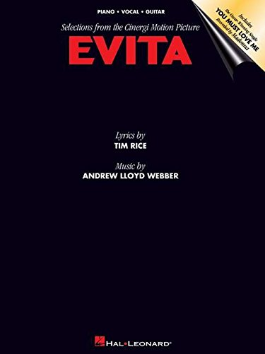 Evita Music From The Motion Picture -For Piano, Voice & Guitar- (Evita PVG.): Noten für Gesang, Klavier (Gitarre)