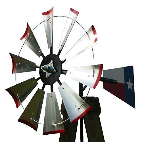 30-inch Windmill Head w/Texas Flag Rudder & Instructions to Build an 8-Foot Tall Windmill