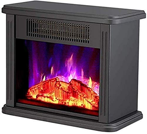 GJNVBDZSF Heating electric fireplace - realistic flame effect stove - portable - electric stove - 1500 W electric fireplace - with real wood flame effect white
