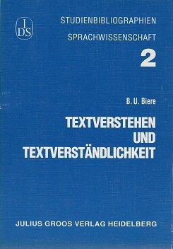 Textverstehen und Textverständlichkeit