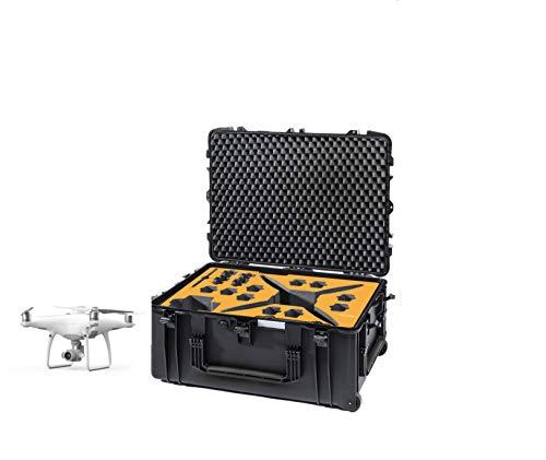 HPRC2780W Schutzhülle für DJI Phantom4 RTK (mit Erdungsstation auf 2780 W), Schwarz/Gelb
