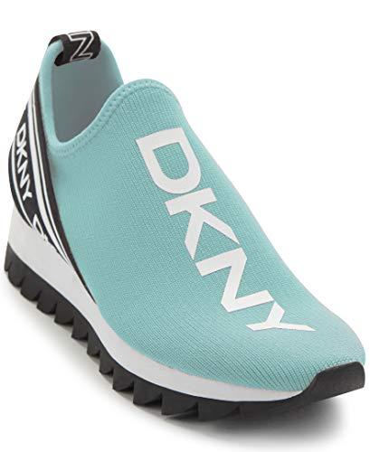 DKNY Women's Abbi Sneaker, Aqua/White, 7