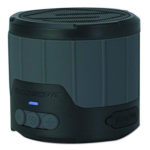 Scosche BTBTLMGY boomBOTTLE Mini Wireless Lautsprecher (3,5mm Klinke, v4.0 Bluetooth, 3 Watt) schwarz