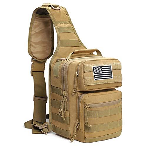 ARR Tactische Messenger Bag Outdoor Wandelen Camping Trekking Rugzak Leger Assault Sling Rugzak Vlag patch