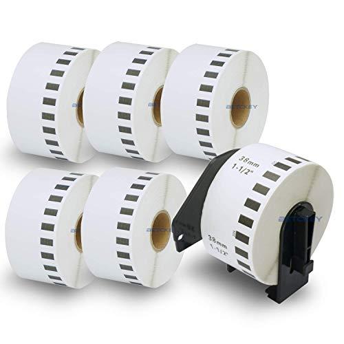6ロール ブラザー ラベル 38mmx30.48m Brother 長尺紙テープ DK-2225 感熱ラベルプリンター用 + 1個 セット 専用互換カセットフレーム(ロール交換可能タイプ)