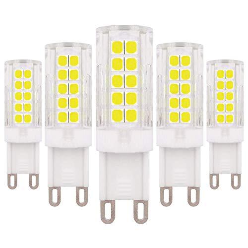 Lampadina LED Dimmerabile G9 220 V 240 V AC 6 W Bianco Freddo 6500 K 60 W Lampadina Alogena di Ricambio, 5-pack