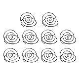 Toyvian - Lote de 10 soportes para tarjetas de mesa, de alambre, para tarjetas de identificación, tarjetas de mesa, portanombres, portafotos, clip para menús y notas