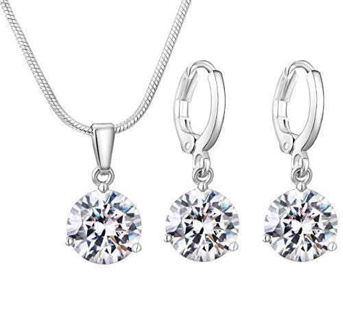 Fashion 925 Sterling Silber Damen Party Hübsches niedliches Armband Halskette Set