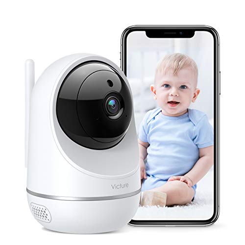 [2021 Versión] Victure Cámara Vigilancia WiFi, Actualizada 1080P DualBand 2.4G & 5G, Cámara IP WiFi, HD Visión Nocturna, Audio de 2 Vías,Detección de Movimiento Via IPC360 Home App-Blanco