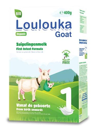 Loulouka Geit Bio 1 - Volledige Zuigelingenvoeding - vanaf 0 maanden - 400 gram - Flesvoeding