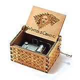Evelure Carillon Game of Thrones, Scatole Musicali in Legno Intagliate a Mano e Intagliate a Mano Creativi I Migliori Regali (D)