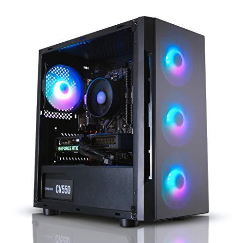 ADMI Gaming PC: AMD Ryzen 5 3600 4.2GHz, RTX 3060 12GB, 16GB 3000MHz, 240GB SSD, 1TB Hard Drive, 600Mbps Wifi, Windows 10