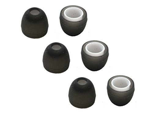 Replacement Silicone Ear Tips for Jaybird BlueBuds X, X2 Headphones. Includes 3 Pairs (Small)