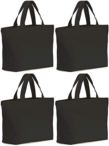 Axe Sickle 4PCS Canvas Tote Bag Bottom Gusset 16 X 16 X 5 inch Heavy 12oz Tote Shopping Bag, Washable Grocery Tote Bag, Craft Canvas Bag with Handle, Black.