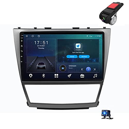 9'Android 10 Navegación GPS Car Stereo DIN Radio Reproductor De Video Multimedia para Toyota Camry 40 2007-2011 Soporte Bluetooth Control del Volante USB WiFi FHD Dash(Size: 4 Core,Color:WiFi 2G+32G)