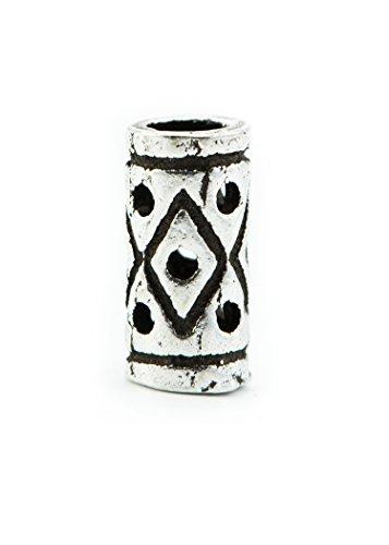 Battle-Merchant Wikinger Bartperle aus Silber, klein - Perle für Dreadlocks Dreads - Innendurchmesser 2 mm