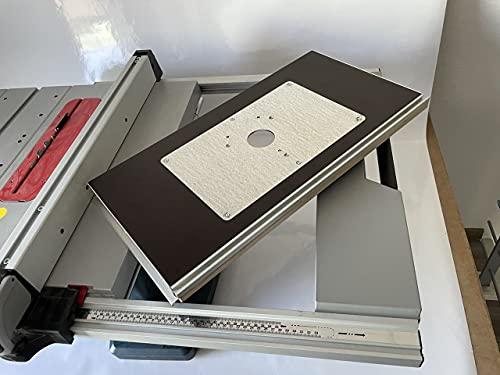 Tuneon Frästischplatte für Bosch GTS 10 XC Tischkreissäge Bosch POF 1400 POF 1200 Oberfräse