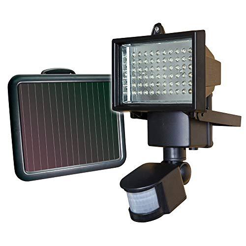 LED Garten Solar Lampen LED-Solarwand-Licht wasserdicht super helles Licht Wird in Gartenzaun Tor Yard Gebraucht Drahtlose Wandlampen Intelligent (Farbe : Black, Size : 14x24.1CM)