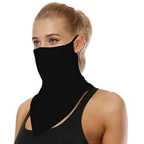 Jinglive – Pañuelo multifunción para motocicleta, protector bucal, bandana, bufanda para hombre, mujer, protección facial, bufanda para deportes al aire libre Negro Talla única