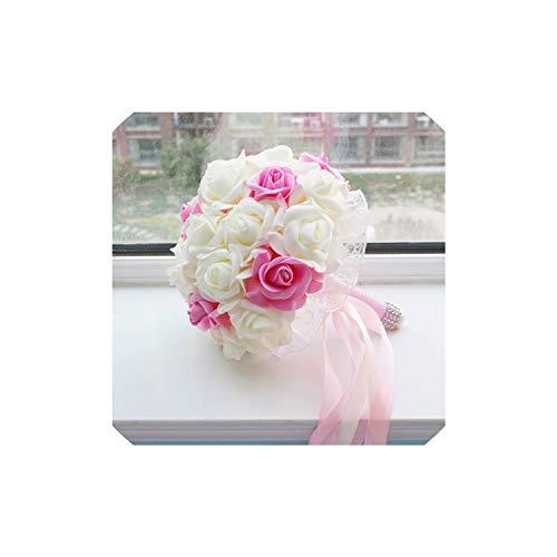 Hiloo Bride Bouquets Bride Bouquets Wedding Bride 's Bouquet red Pink Purple Bride Bouquets,White and Pink