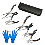 5 Pieces Mini Pliers, Long Lasting Tool Set Cable Cutters – Long...