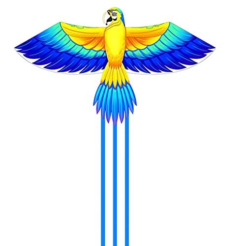 WYDA Cometa Colorido Kite de Loro fácil de Volar y Montar a los niños Principiantes para niños para niños del Parque de Playa Juegos al Aire Libre de Verano Actividades Cometas Viaje