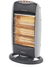 Beldray® EH0197S2STK Portable Halogen Heater   3 Heat Settings   Over Heat Protection   Silent Operation   1200 W   Grey
