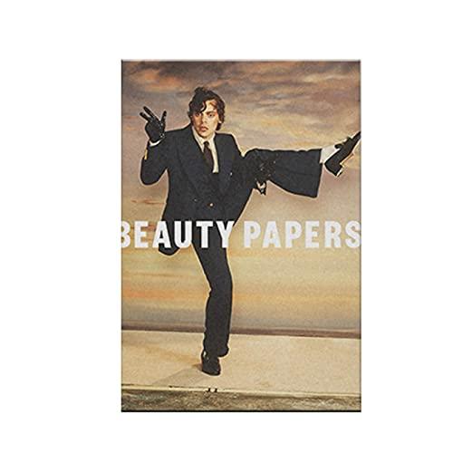 IFUNEW Lona Pared Arte Harry Styles Beauty Papers Póster Pintura Arte de la Pared Lienzo para Sala de Estar Hogar Dormitorio Estudio Dormitorio Decoración 60x90cm