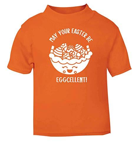 Flox T-Shirt créatif pour bébé May Your Easter be Eggcellent - Orange - 6 Mois