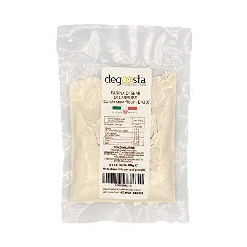 degoosta, 100% Farina di semi di carrube | Addensante per Gelato | Prodotto Naturale Neutro per Gelati | E410 - Farina di Carrube Origine Italia | Confezione Risparmio (30 g)