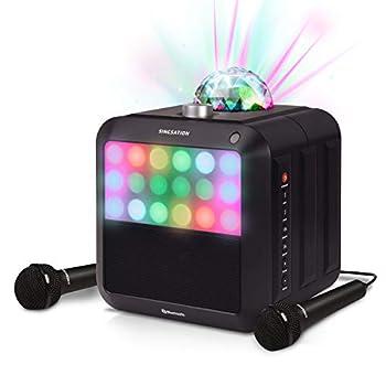 Portable Karaoke Machine - Singsation Star Burst - System Comes w/ 2 Mics Room-Filling Light Show Retro Light Panel & Works via Bluetooth - No CDs Required - YouTube Your Favorite Karaoke Songs
