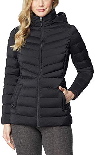 32 Degrees Heat Womens Hooded 4-Way Stretch Jacket (Black, Large)
